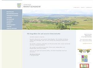 Internetseite des Marktes Seinsheim