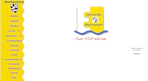 Internetseite der Gemeinde Martinsheim