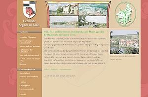 Internetseite der Gemeinde Segnitz